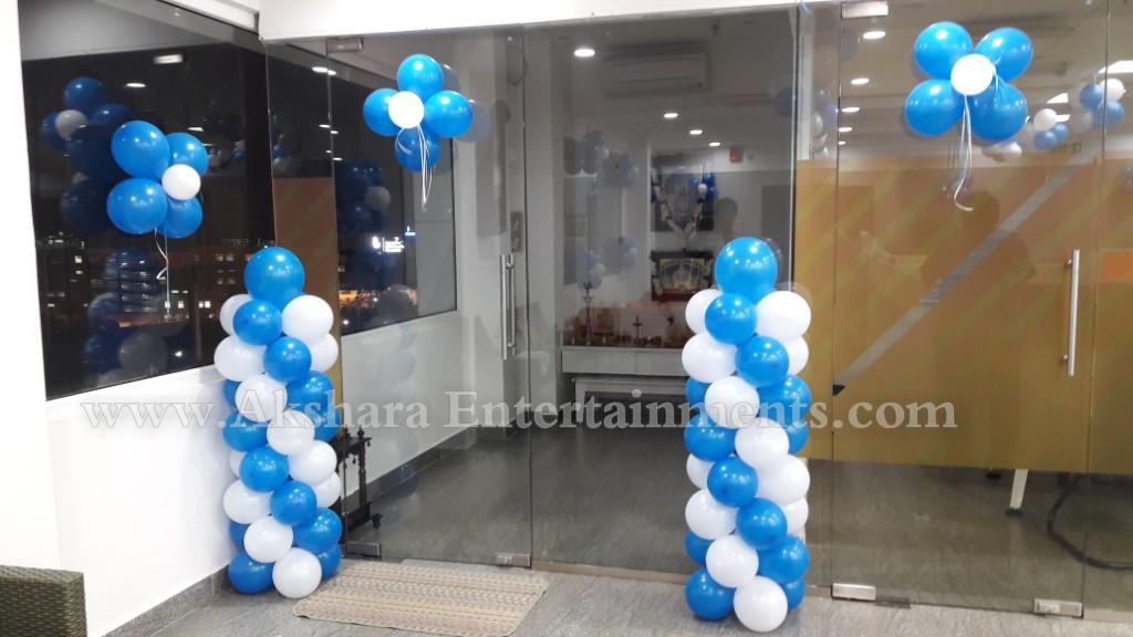 Balloon decorators in hyderabad akshara entertainments for Balloon decoration in hyderabad